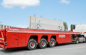 New Faymonville trailers for transporting prefabricated elements